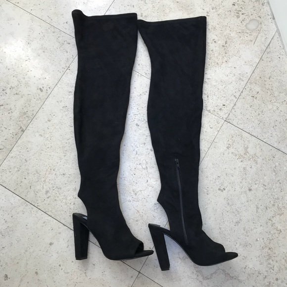 345917a3568 Steve Madden Kimmi over the knee open toe boots